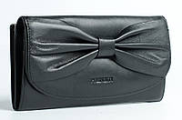 Черный кошелек с бантом Prensiti
