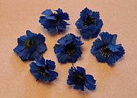 Тканевые  цветочки Василёк 21102 поштучно