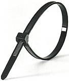 Хомут стяжка нейлоновый 3,6150 черный упаковка - 100 шт, фото 3