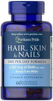 Hair, skin&nails Puritan's Pride, 60 капсул