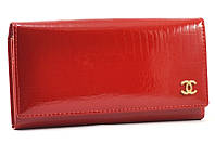 Красный лаковый кошелек Chanel 7002 red