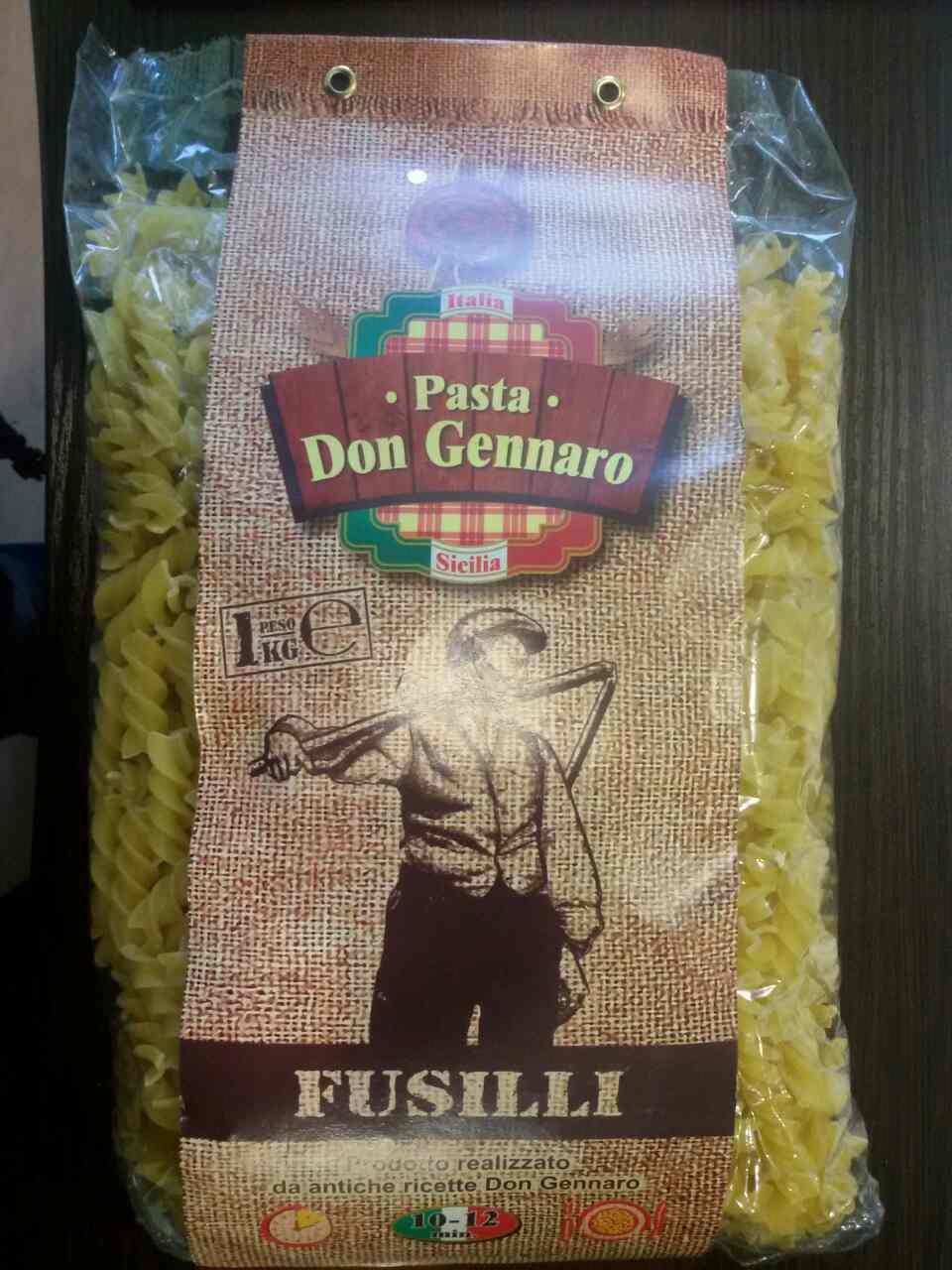 Макарони Дон Генаро Pasta Don Gennaro Fusilli 1кг. Італія