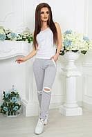 Серые женские спортивные штаны