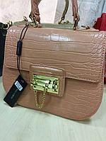 Женская сумка Dolce & Gabbana материал эко кожа, размер 21 * 20 см. Бежевый цвет