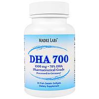 Madre Labs, DHA 700, сверхконцентрированный рыбий жир фармацевтического класса