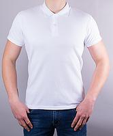 Поло мужское цвет белый