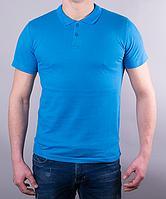 Поло мужское цвет голубой