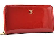 Красный кошелек на молнии Chanel