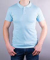 Поло мужское цвет светло-голубой