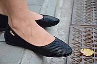 Балетки, туфли женские легкие и удобные черные (Код: 432а), фото 1
