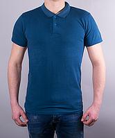 Поло мужское цвет светло-синий
