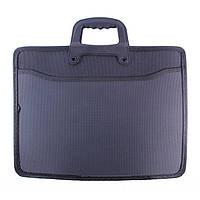 Папка-портфель пластиковая с ручками (2 отделения + 1 карман) 9912