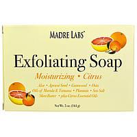 Madre Labs, Мыло-скраб с маслом марула и таману, а также маслом ши и цитрусом,  (141 г)