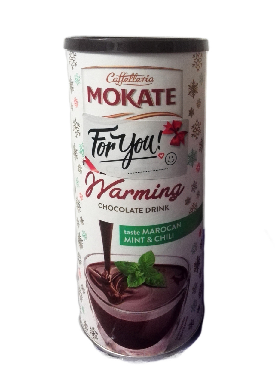 Горячий шоколад Mokate Chocolate Drink Mint&Chili (мята, чили), 200 гр.