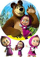 Картинка вафельная А4 Маша и Медведь 1