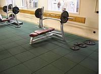 Напольное резиновое покрытие для тренажерных залов