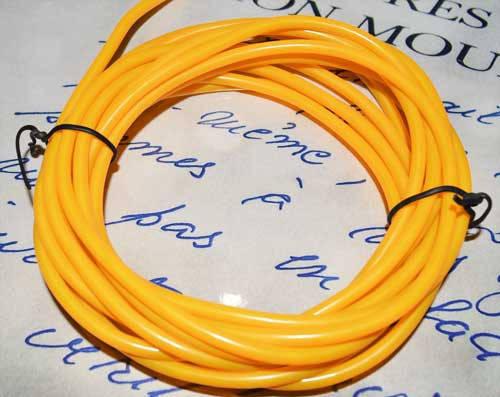 Электролюминесцентный провод (холодный неон) III поколение, диаметр- 5мм., цвет- желтый, фото 2