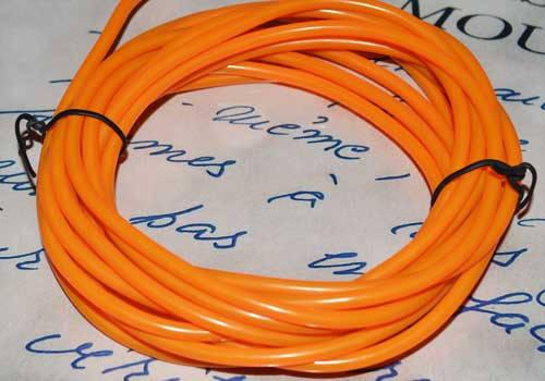 Электролюминесцентный провод (холодный неон) III поколение, диаметр- 5мм., цвет- оранжевый, фото 2