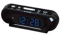 Часы со светодиодной индикацией VST 716-5, LCD-дисплей, время в формате 24, будильник, 160х55х50 ммЧасы со све