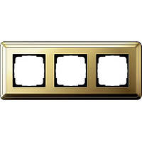 Рамка 3-пост. GIRA ClassiX латунь