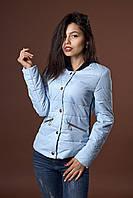 Женская молодежная демисезонная куртка. Код модели К-98-36-17. Цвет голубой.