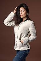 Женская молодежная демисезонная куртка. Код модели К-98-36-17. Цвет молочный.