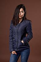 Женская молодежная демисезонная куртка. Код модели К-98-36-17. Цвет темно синий.