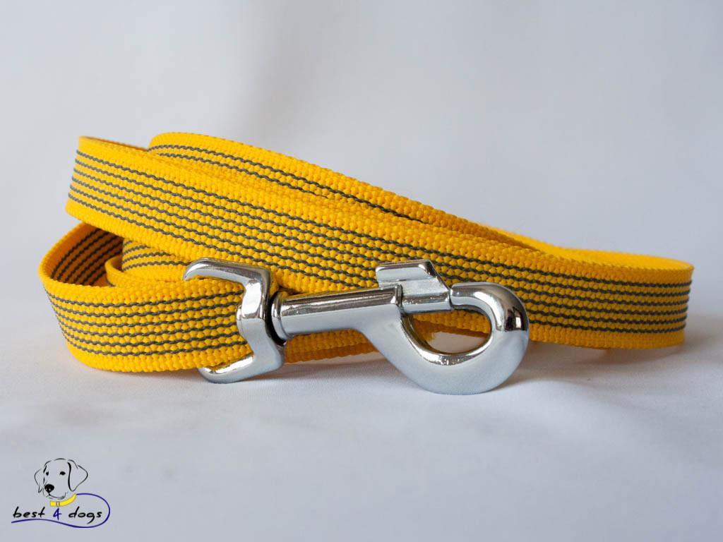 Поводок прорезиненный Желтый 20мм