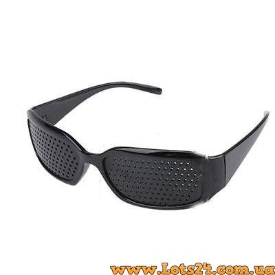 Купить перфорированные очки с дырочками для улучшения зрения.