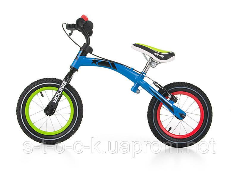 Беговел MillyMally Young  для детей от 2 до 6 лет. Цвет:разноцветный!