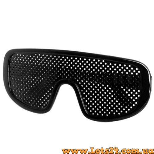 черные очки с дырочками для зрения