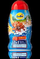 Шампунь - гель для душа SauBаr 2in1 Erdbeere