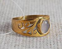 Латунное кольцо 18,5 размера с розовым кварцем