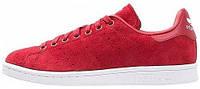 Женские кроссовки Adidas Stan Smith Адидас Стэн Смит красные