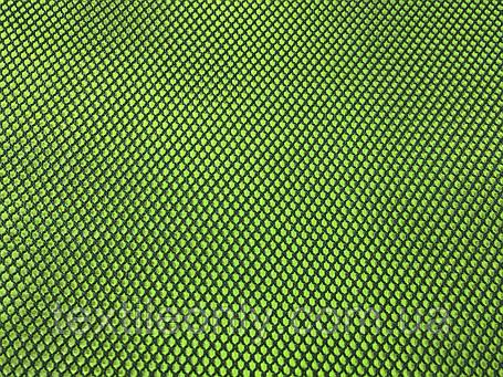 Сетка обувная цвет черный/салатовый, фото 2