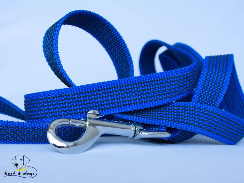 Поводок прорезиненный Синий 20мм