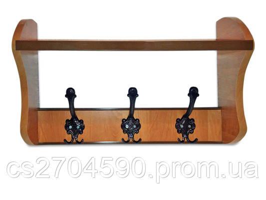 Вешалка для одежды с подголовником 3крючка, фото 2