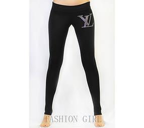 """Лосины черные со стразами """"Louis Vuitton"""""""