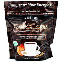 Эксклюзив iHerb Madre Labs, CafeCeps, наполняющий энергией органический быстрорастворимый кофейный напиток
