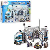 Конструктор 1203 полиция, трейлер, прицеп-база, фигурки, 691 дет, в кор-ке, 53-33-7,5см