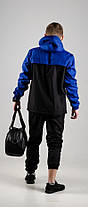 Мужской анорак Nike President синий/черный топ реплика, фото 2