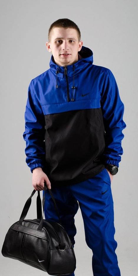 Мужской анорак Nike President синий/черный топ реплика