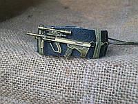 Военный кожаный браслет АВТОМАТ, ручная работа