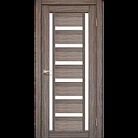 Дверь VALENTINO  VL-02. Со стеклом сатин (дуб грей,дуб беленый,орех,венге,дуб марсала). KORFAD (КОРФАД)