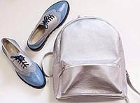 Туфли лоферы и рюкзак (натуральная кожа, ручная работа).