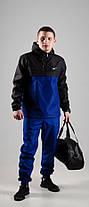 Мужской анорак Nike President черный/синий топ реплика, фото 2