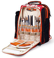 Походный набор для пикника HB4-578 на 4 персоны, пластик/нержавейка, термоотделение 15 л, вес 2,125 кг