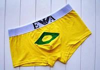 Мужские трусы боксеры Emporio Armani, желтые, фото 1