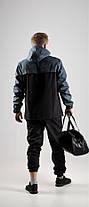 Мужской анорак Nike President черный/серый топ реплика, фото 2