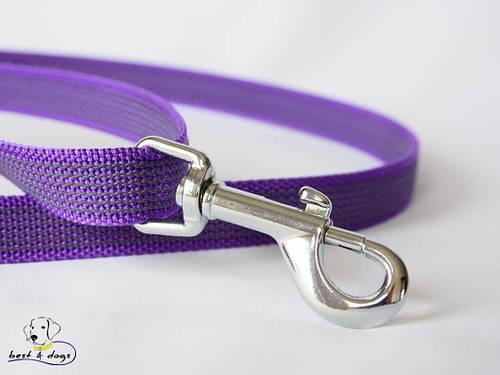 Поводок прорезиненный Фиолетовый 20мм